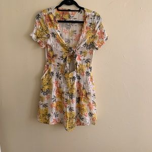 Free People Floral Dress w/ cutout